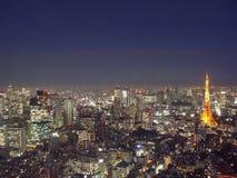 在东京之上 免版税库存照片