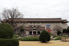 在东京国立博物馆附近的情况,大厦是im 免版税库存照片