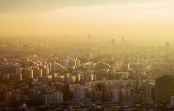 在东京的日落 免版税库存图片