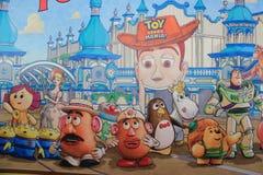 在东京迪士尼海洋游乐园的玩具总动员疯狂 库存照片