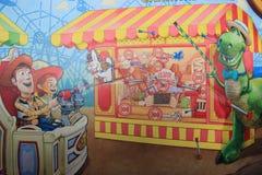 在东京迪士尼海洋游乐园的玩具总动员疯狂 图库摄影