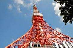 在东京铁塔,东京,日本的看法 库存照片