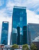 在东京驻地-令人敬畏的建筑学的现代办公楼-东京,日本- 2018年6月19日 免版税库存图片