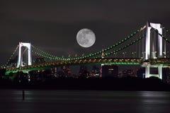 在东京,日本的满月 免版税库存照片