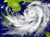 在东南亚附近的飓风 图库摄影