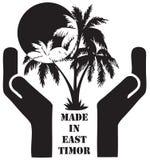 在东帝汶制造的标志 向量例证