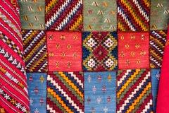 在东方样式的地毯,卡萨布兰卡, Marocco 库存图片