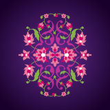 在东方样式的花饰 库存图片