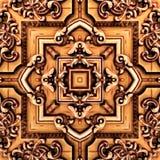 在东方样式荧光的马赛克样式的无缝的光栅样式墙纸的,背景,挂毯的装饰 库存照片