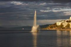 在东方海湾的喷泉 免版税库存照片