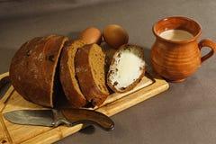 在东欧传统风格的早餐 库存照片