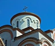 在东正教的塔圆顶在诺维萨德,塞尔维亚 库存照片
