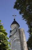 在东正教的蓝天在克里米亚 免版税库存照片