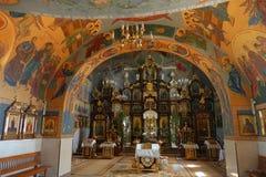 在东正教谢米亚蒂切波兰里面 库存图片