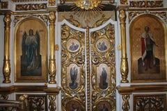 在东正教里面的象 免版税库存图片