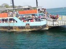 在东非海岸的客船蒙巴萨 图库摄影