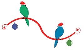 在丝带的两只鸟 免版税库存图片