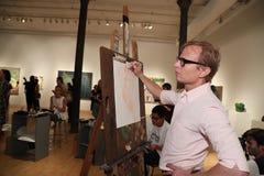 在丝毫春天2017年介绍的一般大气在艺术的NY学院 免版税库存照片