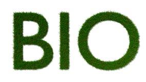 在丝毫隔绝的生物草标志 免版税库存图片