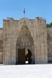 在丝绸之路,土耳其的Sultanhani商队投宿的旅舍 免版税库存照片