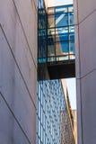 在两个大厦之间的通道,亚特兰大,美国 免版税库存图片