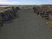 在两个大陆-冰岛之间 免版税库存照片
