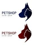 在两变异的狗和猫商标 库存照片