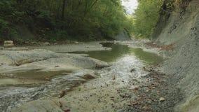 在两边缘之间的快速的水小河 股票录像
