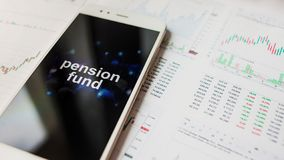 在个人养老金保险资金的投资,概念 福利供应在退休的 免版税库存图片