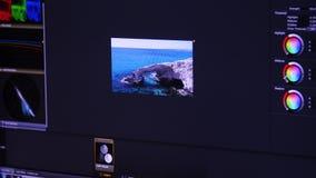 在个人计算机的录影编辑颜色更正 影视素材