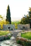 在中世纪加强Spanjola的塔顶部 免版税库存照片