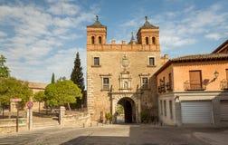 在中世纪市托莱多入门 免版税库存图片