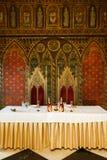 在中世纪样式的婚姻的内部 库存图片