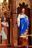 在中世纪被加强的教会科德莱亚里面,特兰西瓦尼亚 库存图片