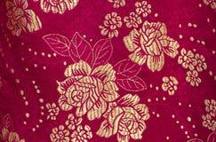 在中国刺绣样式的花卉样式 无缝背景的花 免版税库存图片