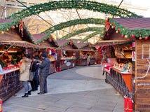 在中国北京的圣诞节市场12月 17,2015 库存图片