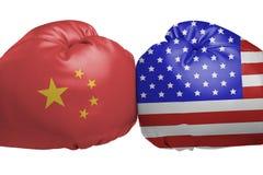 在中国和美国之间的交锋 库存图片