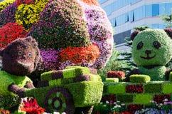 在中国国庆节,北京的街道艺术 图库摄影