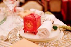 在中国婚礼的传统装饰 库存照片