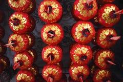 在中国寺庙的中国灯 免版税库存照片