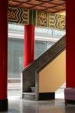 在中国寺庙的台阶 图库摄影