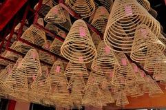 在中国寺庙的烧伤香火 库存图片