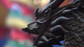 在中国寺庙的龙雕塑 股票视频