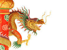 在中国寺庙的龙雕象 免版税图库摄影