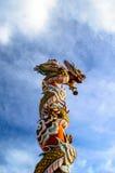 在中国寺庙的龙Coumn 库存图片