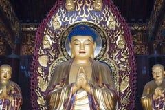 在中国寺庙的Godness 图库摄影
