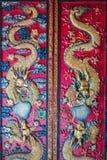 在中国寺庙门的装饰 库存图片