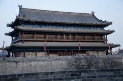 在中国市唐朝的古城墙壁山西的 免版税库存图片