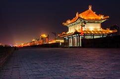 在中国市唐朝的古城墙壁山西的 免版税图库摄影