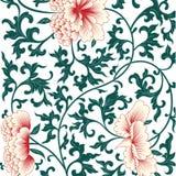 在中国式的花背景 库存例证
